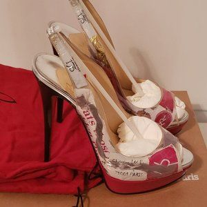 CHRISTIAN LOUBOUTIN Lady Holt Trash 150 Patent